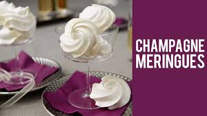how to make champagne meringue cookies youtube