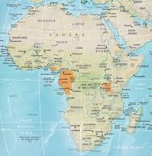 Physical Map Of Africa by Celebrating Colo Maps Com Educational Publishing