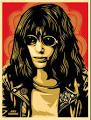 Joey Ramone Red - Shepard Fairey - Joeyramonered