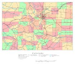 Map Of Colorado by Large Detailed Administrative Map Of Colorado State With Roads