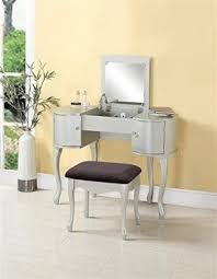 Linon Home Decor Vanity Set With Butterfly Bench Black Vanity Set Mirror Foter