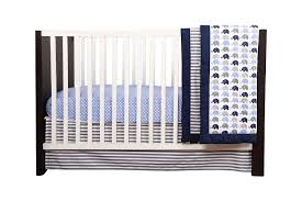 bacati elephants blue grey 10 pc crib set without bumper pad