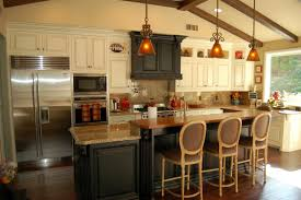 kitchen design ideas using solid lattice wood kitchen island bar
