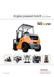 toyota tonero 3 5 8 0 ton toyota material handling pdf