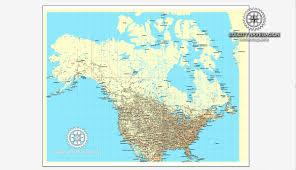 Hamilton Canada Map Usa Canada Printable Vector Counrty Road Map Gps Correct