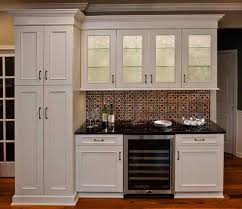 Tin Backsplash For Kitchen  Tin Ceiling Tile Backsplash With - White tin backsplash