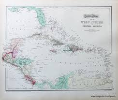 Labeled Map Of Central America by Antique Maps And Charts U2013 Original Vintage Rare Historical