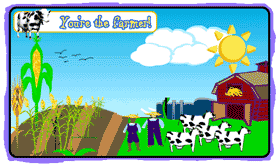 Community Helpers  This website is an interactive question and answer session about the life of a farmer and his farm  Students may choose wether to be one of two famers and