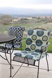Black Wrought Iron Patio Furniture Sets by Decor Awesome Patio Chair Cushion For Comfortable Furniture Ideas