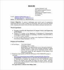 attractive resume format for freshers free download curriculum