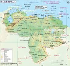 Map Of Western Caribbean by Venezuela Map Map Of Venezuela
