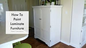 How To Paint Veneer Kitchen Cabinets How To Paint Laminate Furniture Youtube
