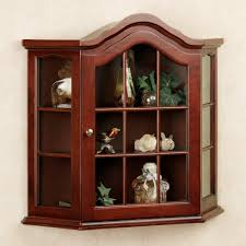 curio cabinet small wallnging curio cabinets oak display