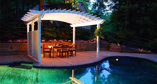 Small Pergola Kits by Arched Vinyl Pergola U0026 Pergola Kits Structureworks