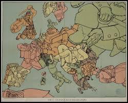 Map Of 1914 Europe by Satirical Map Of World War I In Europe U201chet Gekkenhuis U201d By Dutch