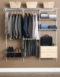 casual bedroom decor with rubbermaid closet system simple