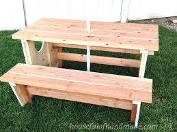 Plans To Build A Picnic Table Bench by How To Build A Nautical Picnic Table For Bigger Kids A Houseful