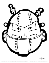Halloween Masks Printables 8 Free Robot Halloween Masks Colorbook 4 Nerdlings