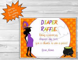 halloween baby shower diaper raffle insert cards printable