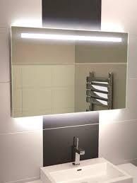 illuminated bathroom mirrors led astonishing backlit mirror modren