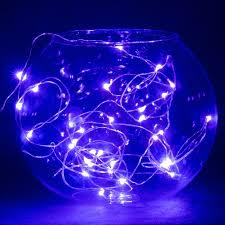 Blue Led String Lights by Elenker 32ft 10m Copper Wire 100 Led String Lights Fairy Lightings