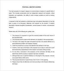 Masters Dissertation Proposal Example Free Download Template net