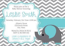 Invitation Cards For Baby Shower Templates Baby Shower Invitations Elephant Kawaiitheo Com