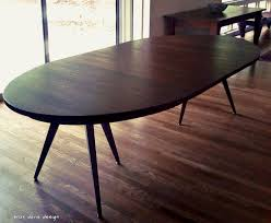 Custom Made Dining Room Furniture Chair Custom Made Solid Walnut Tripod Oval Expanding Dining Table