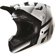 white motocross helmets fox racing 2016 v3 shiv helmet black white available at motocross