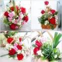 Bloggang.com : jewelmoda : การจัดตะกร้าผลไม้ตกแต่งด้วยดอกไม้สด ...