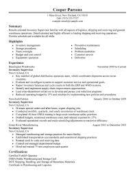 Food And Beverage Supervisor Job Description Best Inventory Supervisor Resume Example Livecareer