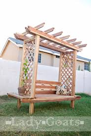 Free Wooden Garden Chair Plans by Ana White Build A Outdoor Bench With Arbor Free And Easy Diy