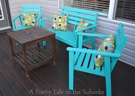 DIY Ideas For Sprucing Up Your Backyard - Colorful patio furniture