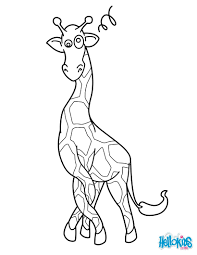 giraffe in a twist coloring pages hellokids com