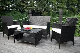 Patio Furniture Set Amazon Com Merax 4 Piece Outdoor Patio Pe Rattan Wicker Garden
