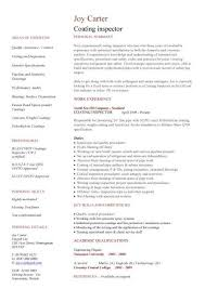 Resume Examples  Construction Resume Template  coating inspector     Rufoot Resumes  Esay  and Templates
