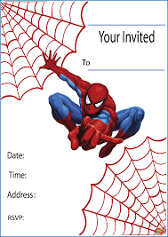 Happy Birthday Invitation Card Template Free Printable Spiderman Party Invitations On Www Thepartywebsite