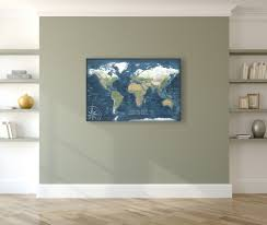 World Map Canvas by Voyager 2 World Map Canvas Wrap Map Geojango Maps