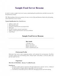 Resume Job Profile by Good Waitress Resume Skills Cipanewsletter Waitress Resume Skills
