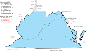 Roanoke Virginia Map by About Virginia Masters Swimming