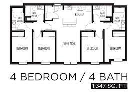 Floor Plan House 3 Bedroom 3 Bedroom 4 Bath House Plans House Plans