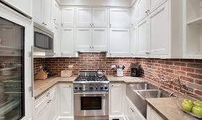 interior design fascinating brick backsplash with knife sets and fascinating brick backsplash with knife sets and ceiling lighting also wooden flooring for modern kitchen ideas