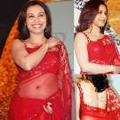 Rani Mukherjee Lace Saree in Red | Zeenat Style