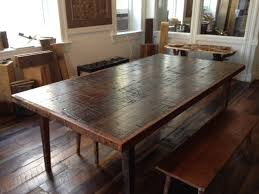 Wooden Kitchen Table Rustic Wooden Kitchen Table Stainless Steel - Barnwood kitchen table