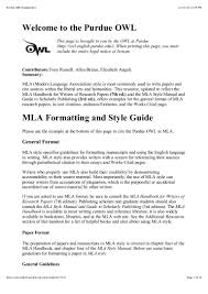purdue owl mla style guide