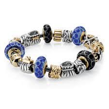 Bracelet Pandora bleu & noir