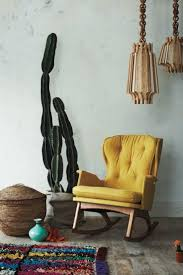 Wingback Rocking Chair Fabolous Yellow Wingback Chair Design Ideas Rilane