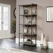 Sauder Black Bookcase by Sauder Canal Street Northern Oak Open Bookcase 419228 The Home Depot