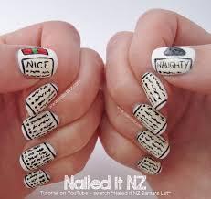 santa u0027s list nail art tutorial 12 days of christmas nail art
