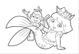 beautiful dora coloring pages 69 for your coloring pages online